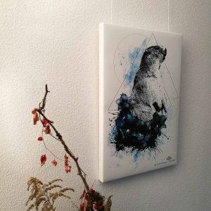 """Marmota Marmota"" – HelvEdition Mixed Media Illustration by Ka L-O-K Open Edition Fine Art Canvas Print"