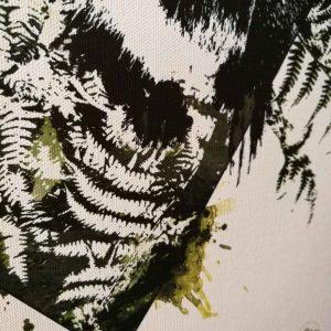 """Vulpes Vulpes"" – Detail View HelvEdition Mixed Media Illustration by Ka L-O-K Open Edition Fine Art Canvas Print"