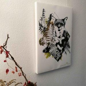 """Vulpes Vulpes"" – HelvEdition Mixed Media Illustration by Ka L-O-K Open Edition Fine Art Canvas Print"